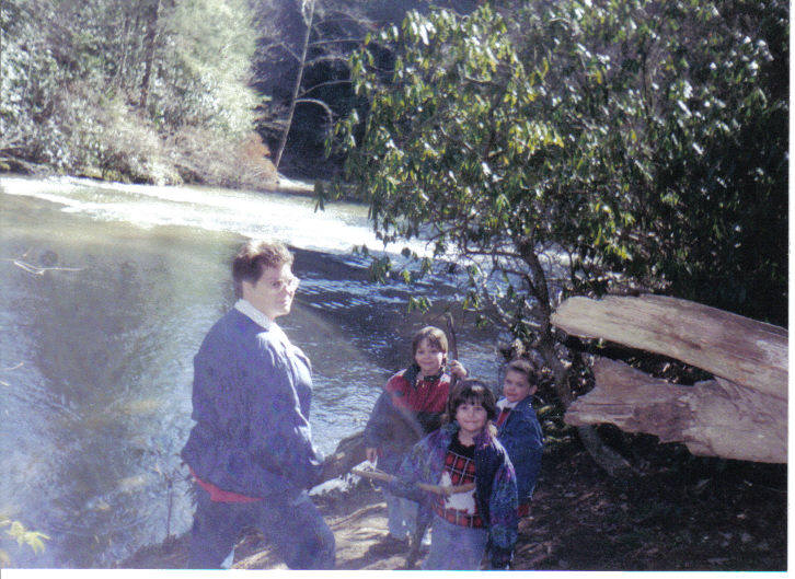 Moravian Falls, Mike with friends 1997