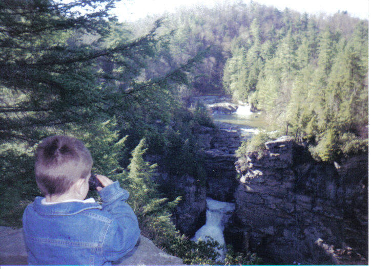 Mike at Linville Gorge 1998